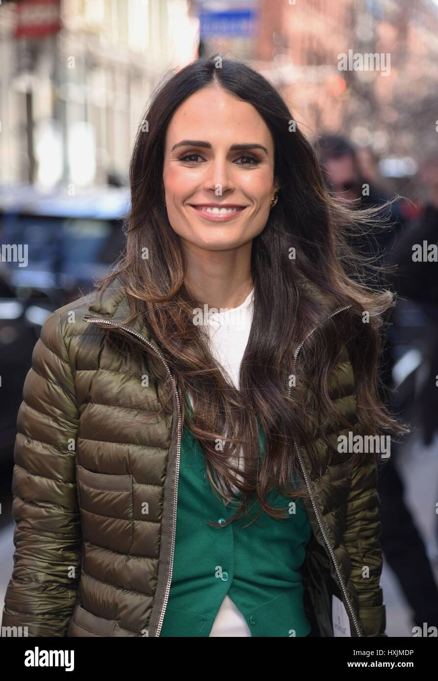 New York, NY, USA. 29th Mar, 2017. Jordanna Brewster out and about for Celebrity Candids - WED, New York, NY March - Stock Image