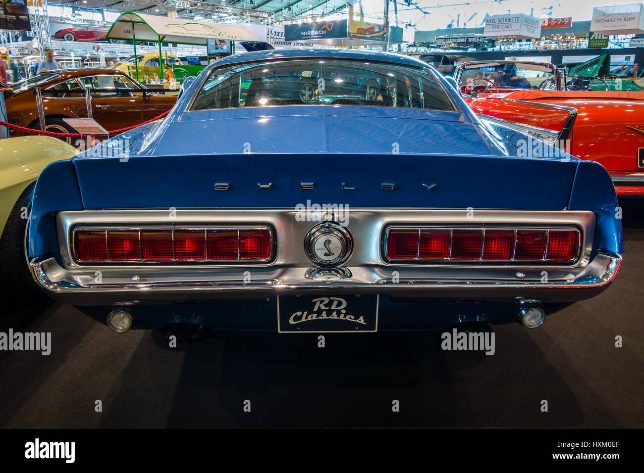Muscle Car Ford Mustang Shelby Gt500kr 1968 Rear View Europe S