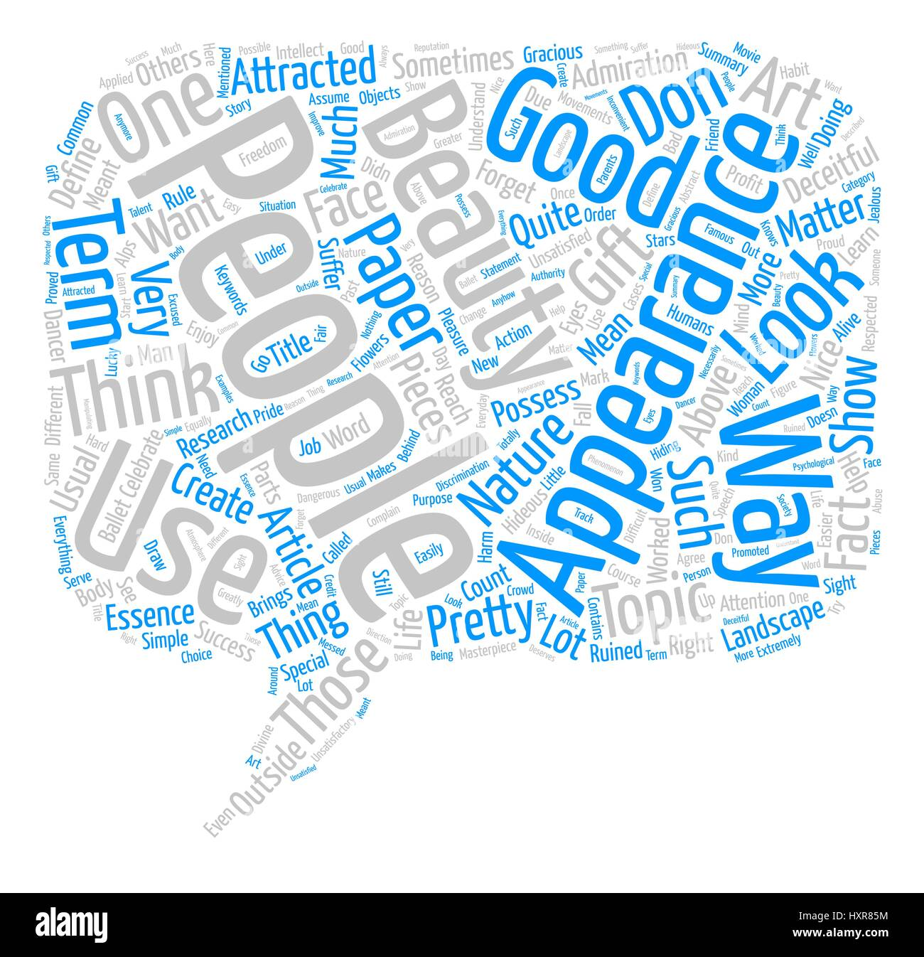 Appearances are Deceitful Word Cloud Concept Text Background - Stock Image