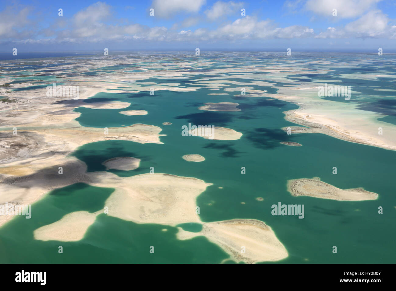 Aerial view of Christmas Island (Kiritimati), Kiribati Stock Photo ...
