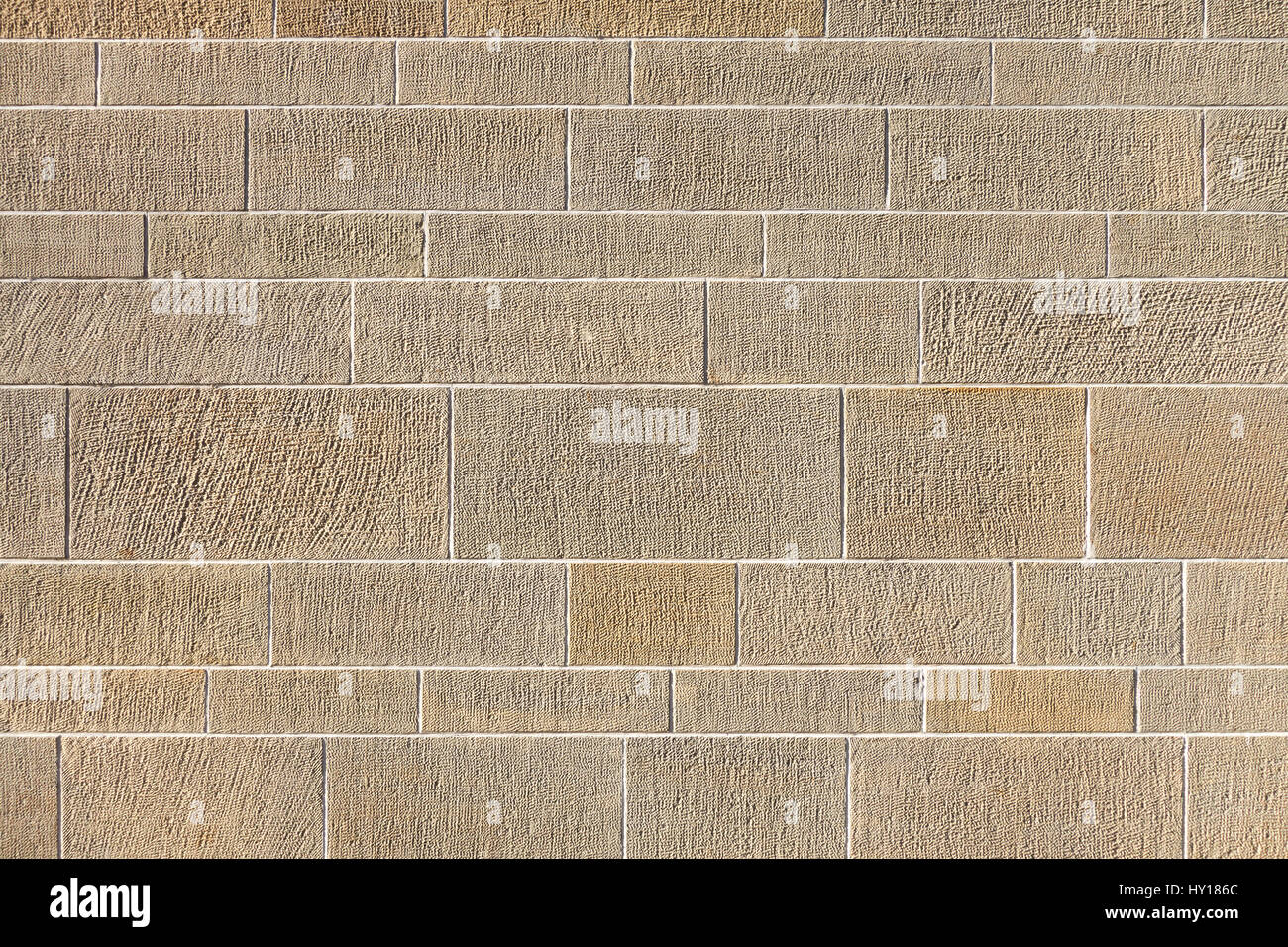 Pattern of an exterior wall in horizontal format - Stock Image