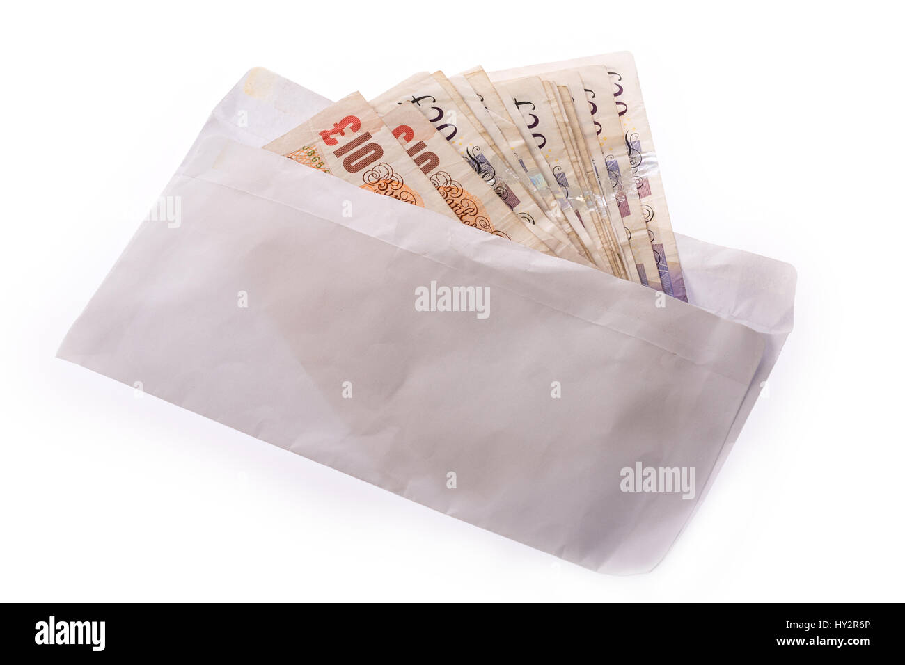 envelope of cash uk pound notesStock Photo