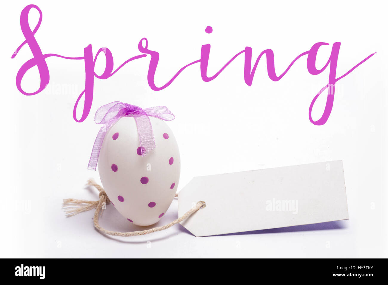 Happy Easter Logo Against White Egg With Blank Tag Stock Circuit Will Makes Things