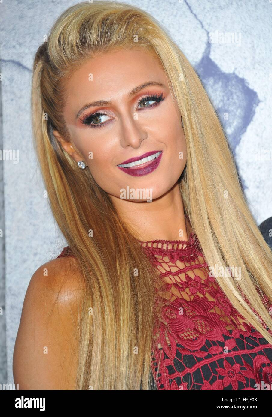 Los Angeles, CA, USA. 4th Apr, 2017. Paris Hilton at arrivals for THE LEFTOVERS Season 3 Premiere, Avalon Hollywood, - Stock Image
