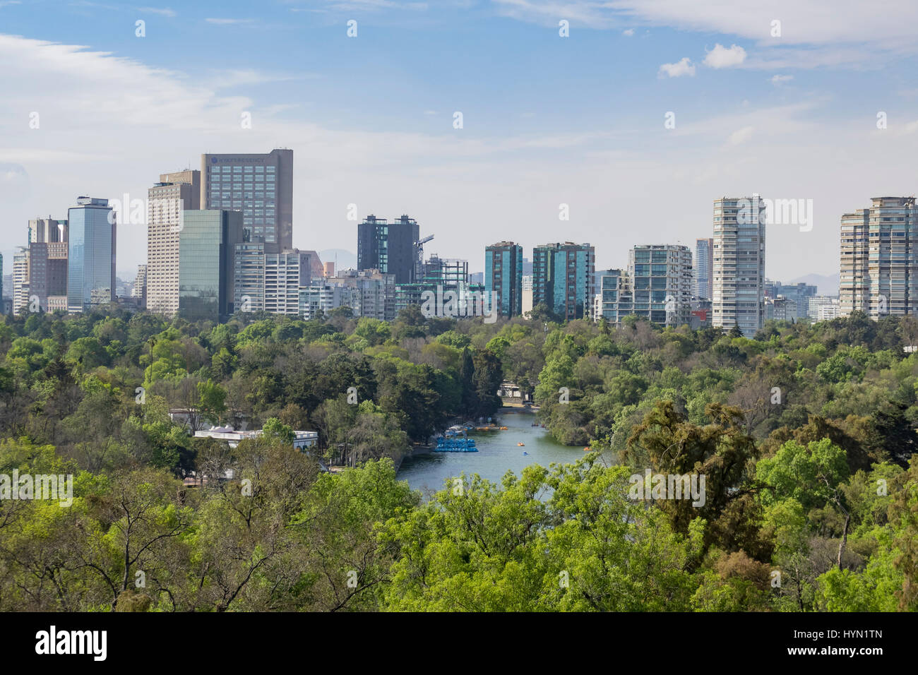 Cityscape view from the Chapultepec Castle of Mexico City - Stock Image