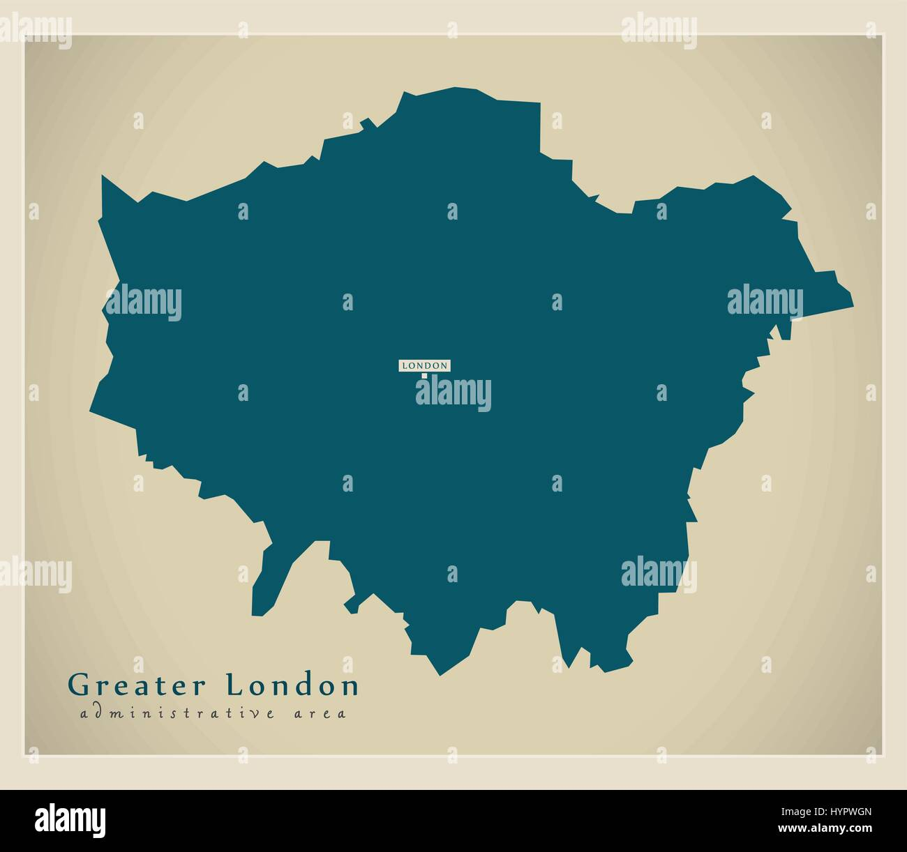 modern map greater london administrative area uk