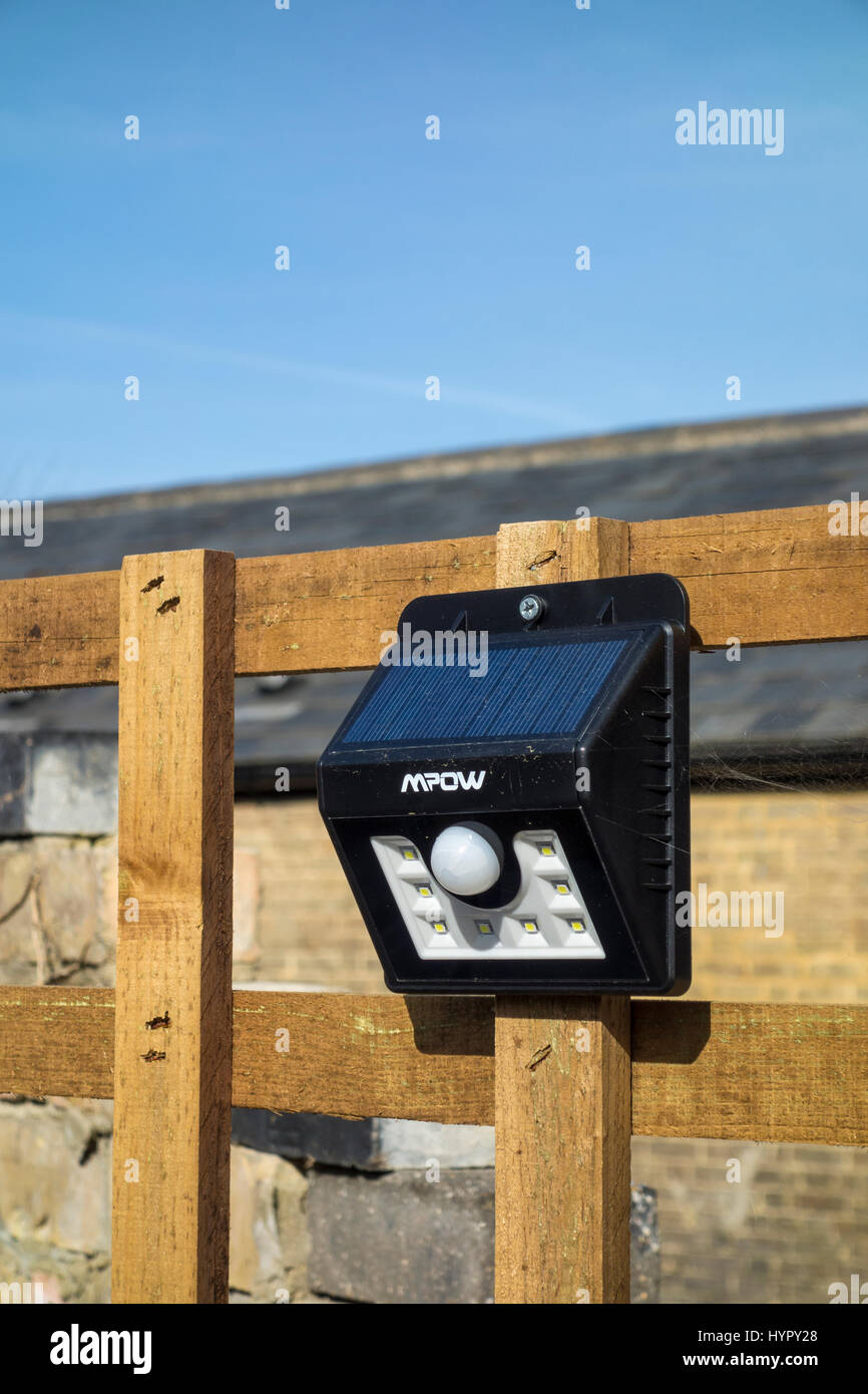 Automatic battery operated security light Stock Photo