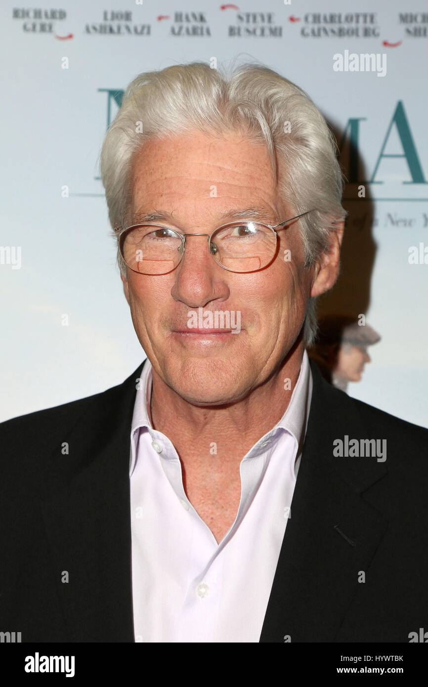 Los Angeles, CA, USA. 5th Apr, 2017. Richard Gere at arrivals for NORMAN Premiere, Linwood Dunn Theater at The Pickford - Stock Image