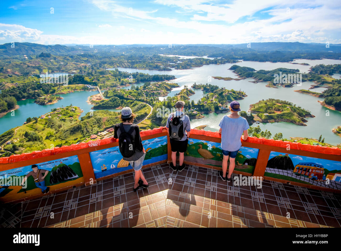 Guatape guatape, colombia: could this rainbow-painted town be the most stock