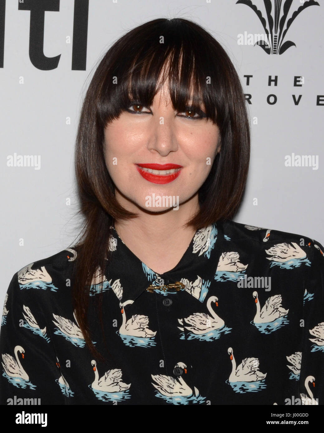 Karen O arrive for the Premiere Of 'SHOT! The Psycho-Spiritual Mantra of Rock' held at Pacific Theatres - Stock Image
