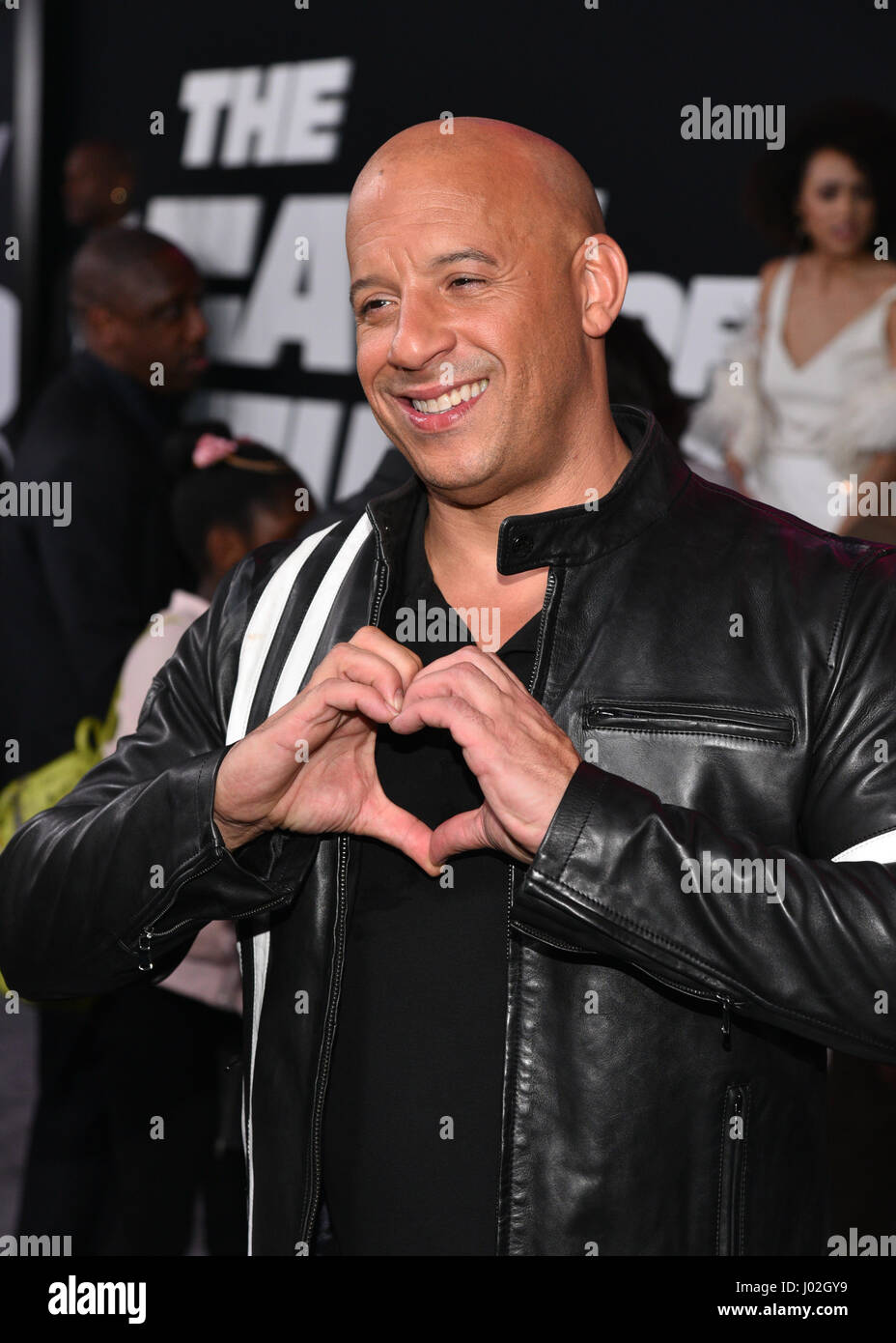 New York, USA. 8th April, 2017. Vin Diesel attends 'The Fate Of The Furious' New York Premiere at Radio - Stock Image
