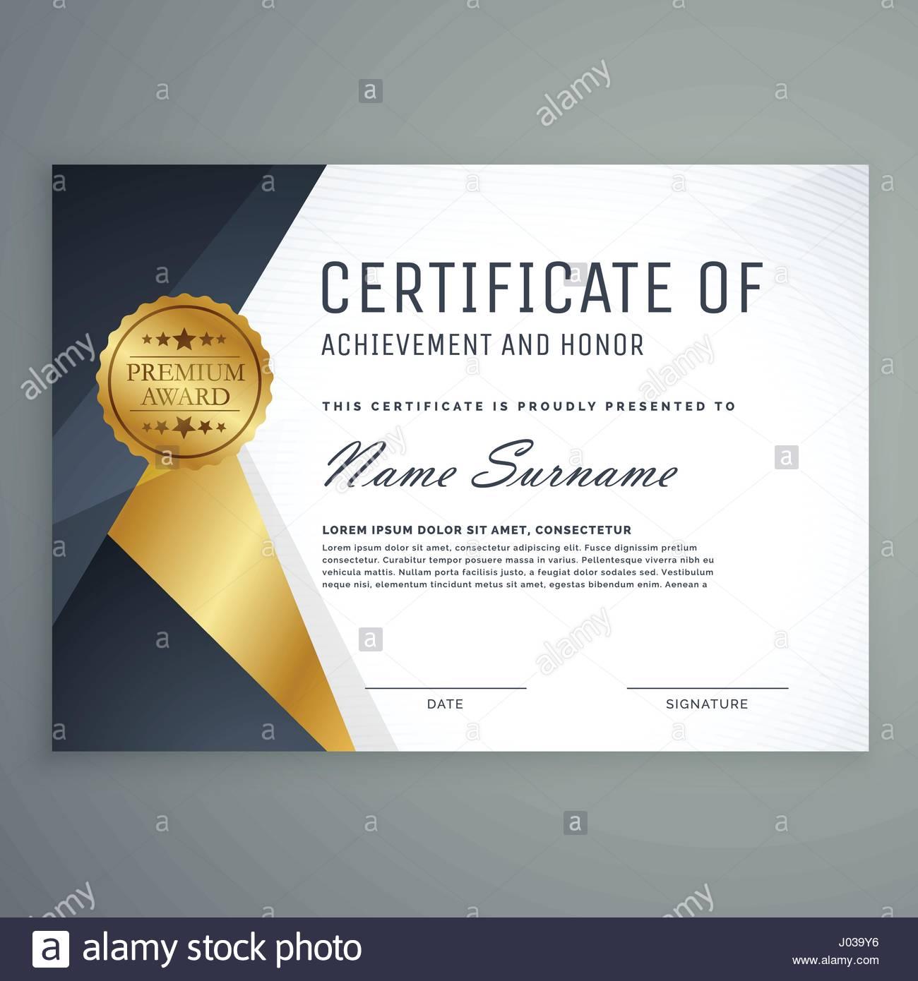 Premium Certificate Of Appreciation Award Design Stock Vector Art