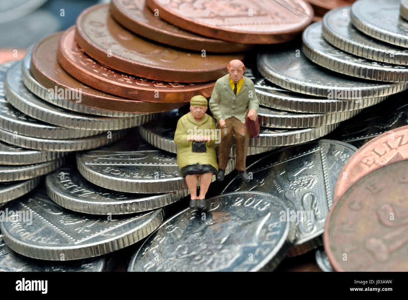 Pensioner couple - Stock Image