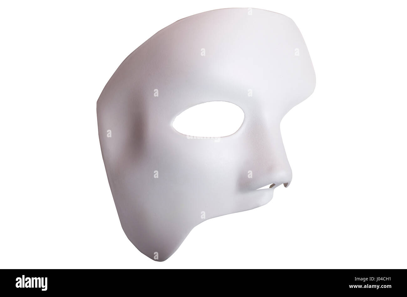 white scary halloween mask isolated on white background stock photo