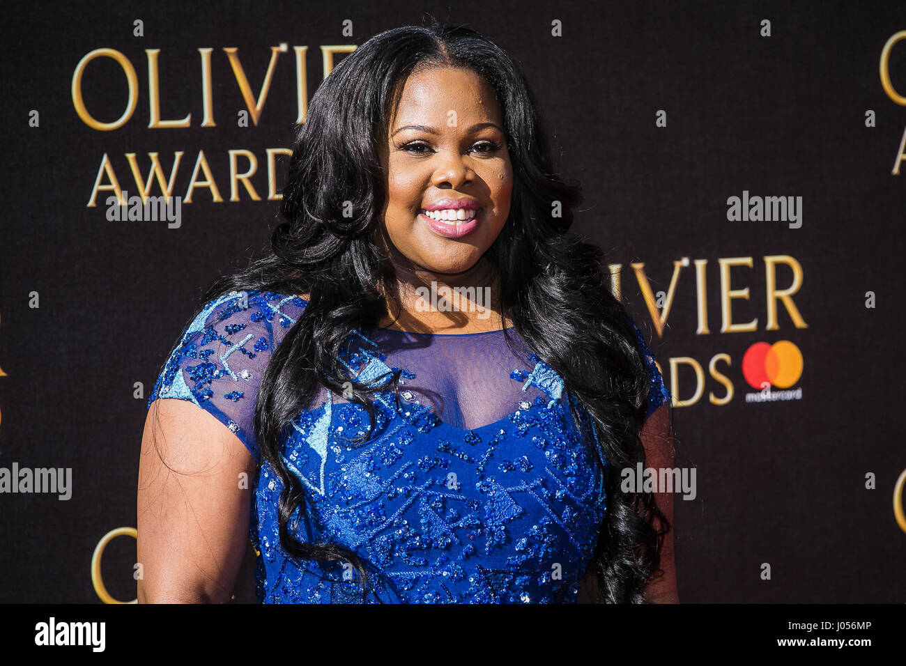Amber Riley winner of Best Actress in a Musical - Stock Image