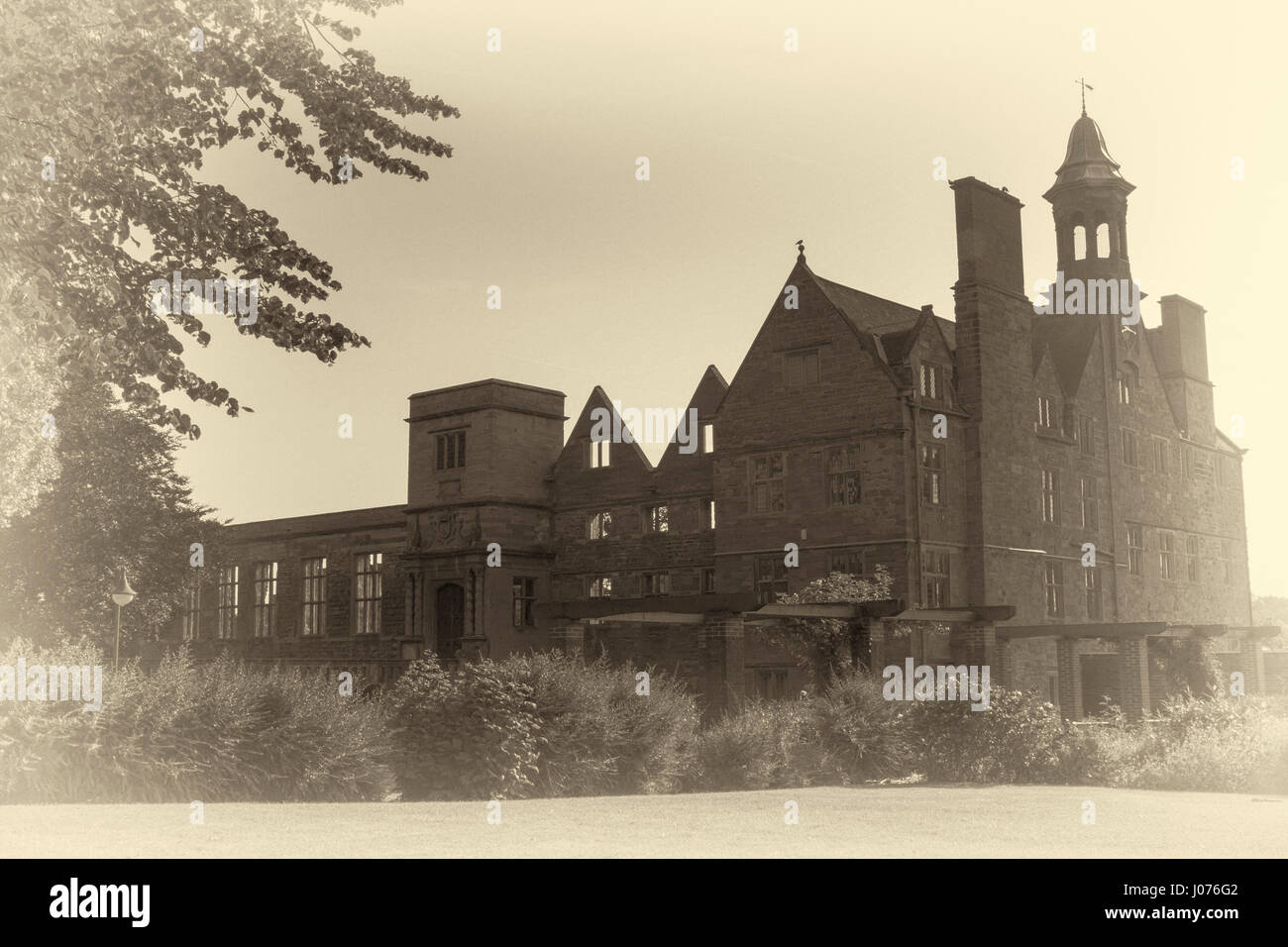 Rufford Abbey Country Park-sepia images - Stock Image