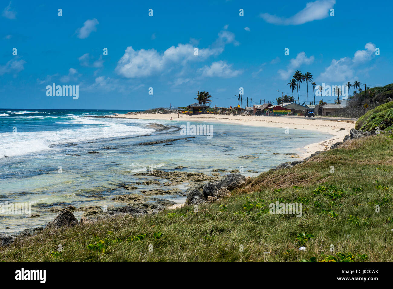 White sand beach, San Andres, Caribbean Sea, Colombia - Stock Image