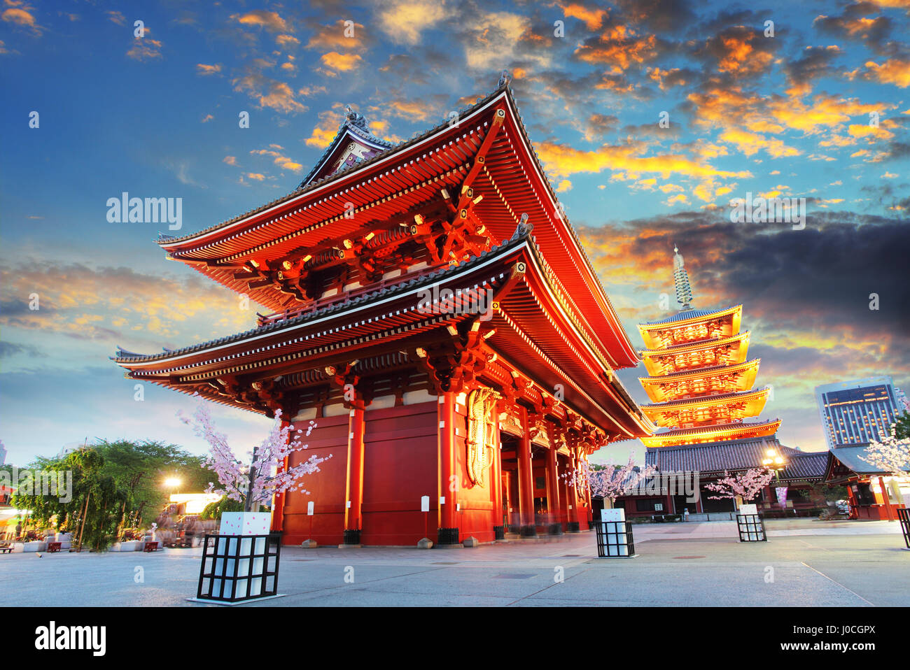 Tokyo - Sensoji-ji, Temple in Asakusa, Japan Stock Photo
