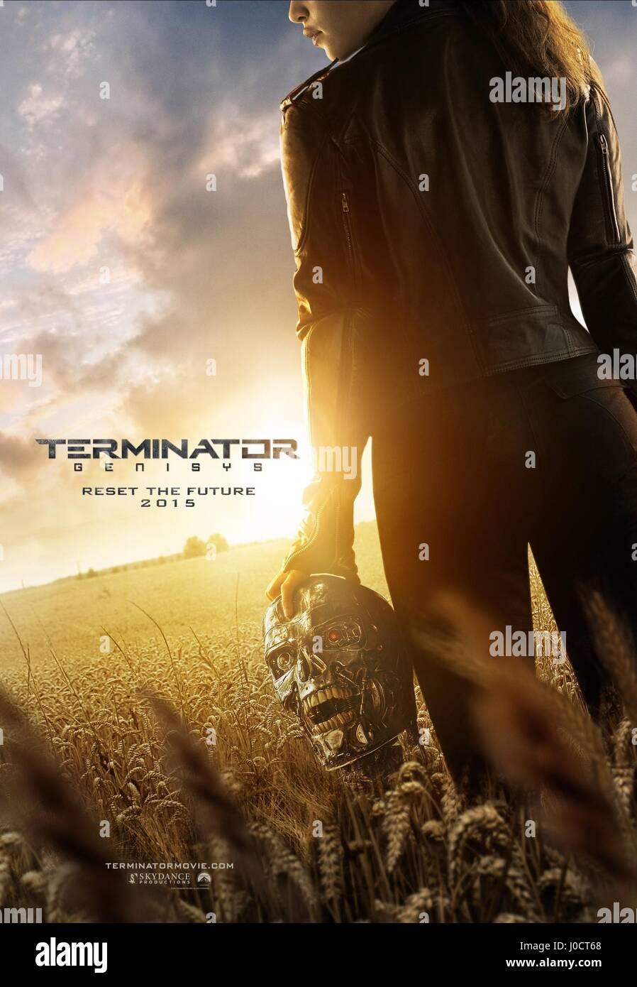 MOVIE POSTER TERMINATOR GENISYS; TERMINATOR 5 (2015) - Stock Image