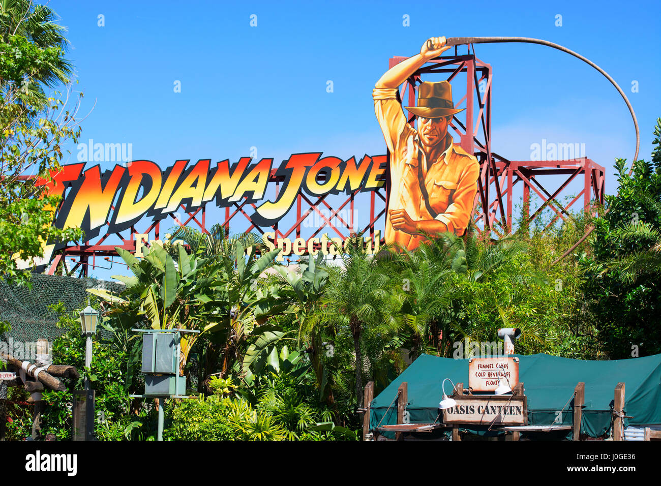 Indiana Jones Epic Stunt Spectacular, Hollywood Studios, Disney World, Orlando Florida - Stock Image