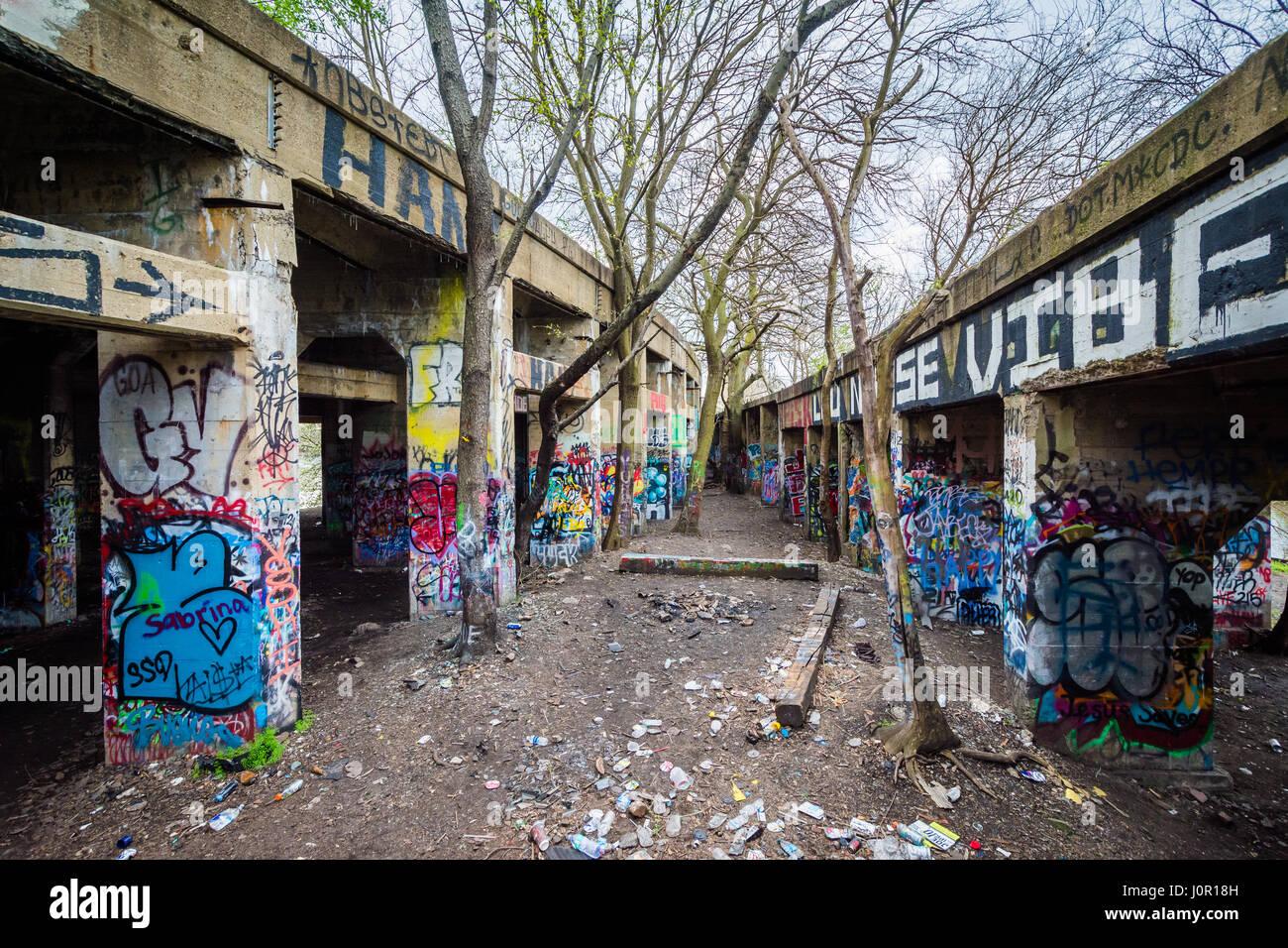Street Art At Graffiti Pier In Philadelphia Pennsylvania