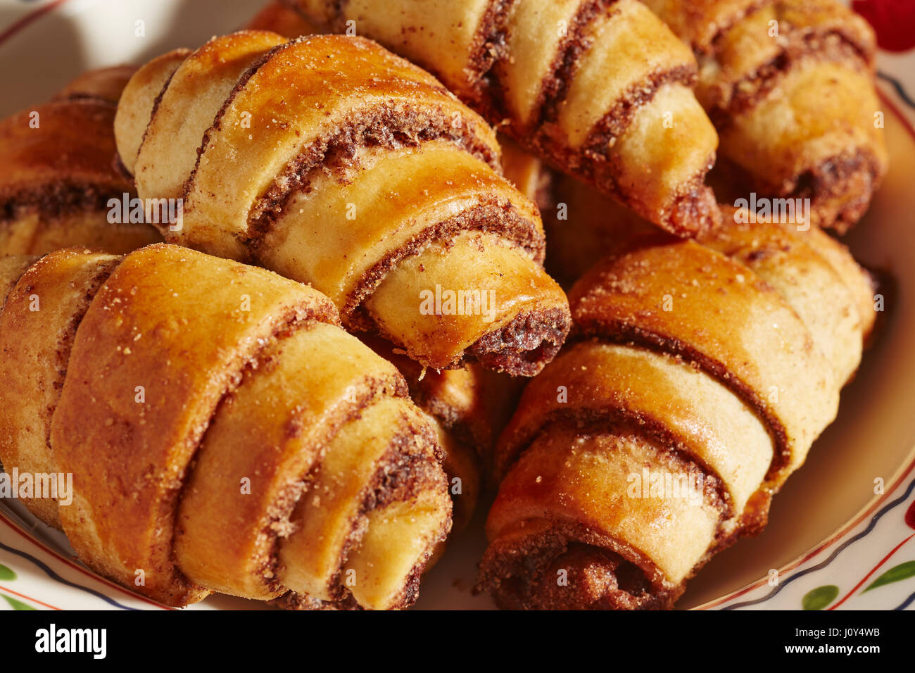 Rugelach, a traditional European pastry popular on Jewish holidays. - Stock Image