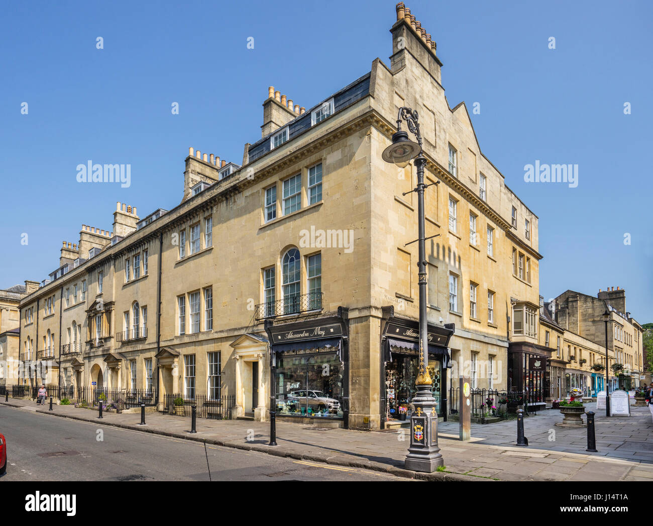 United Kingdom, Somerset, Bath, Lady Margaret's Georgian townhouse - Stock Image