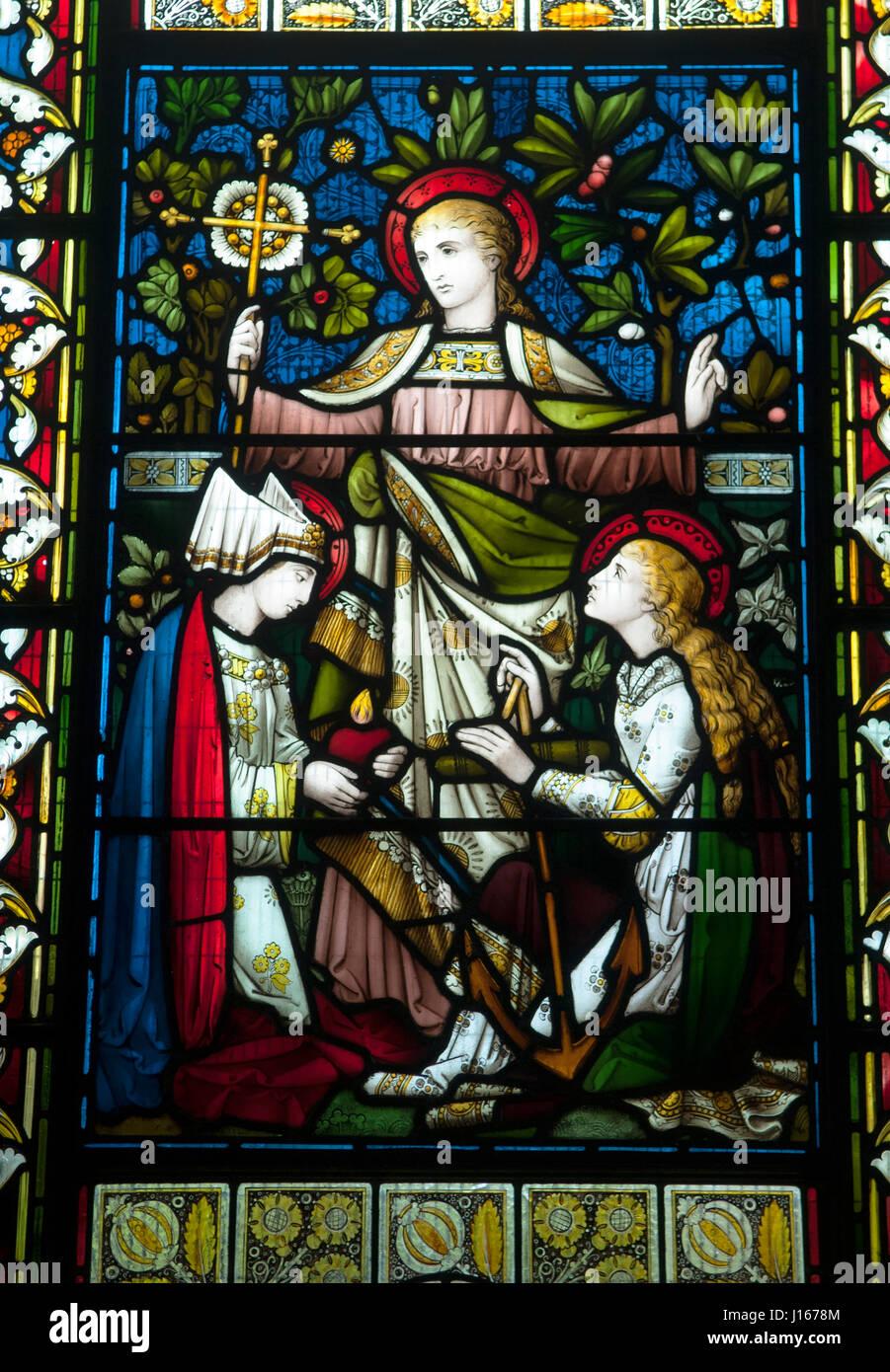 Faith Hope And Charity A Cross A Symbol Of Faith An Anchor A