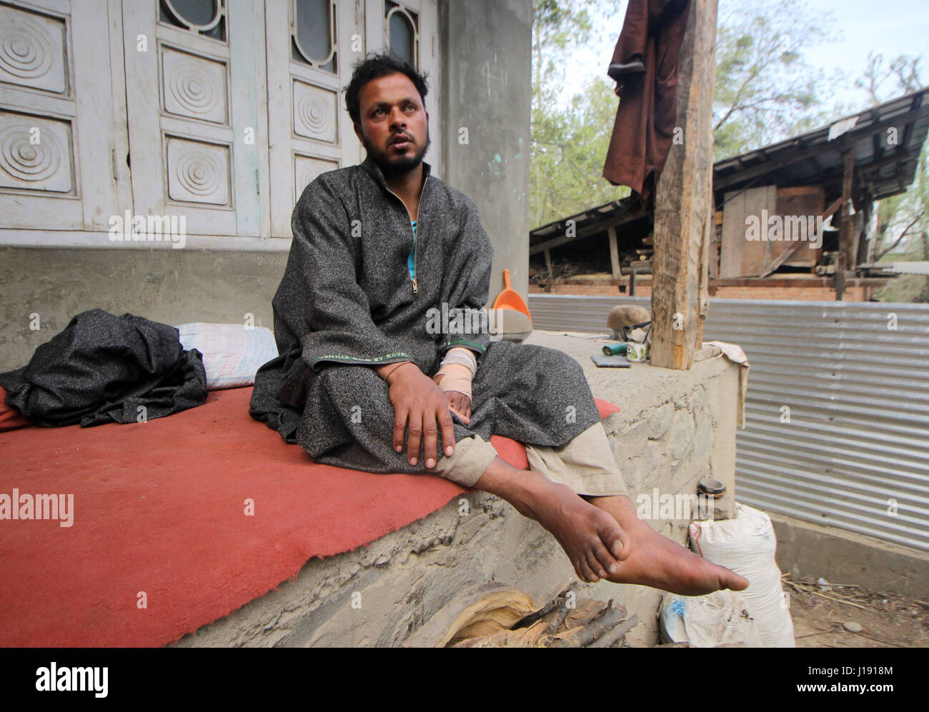 Farooq Ahmed Dar, who was used as human shield by Indian Army by strapping him to a jeep on April 9, 2017. (Photo Stock Photo