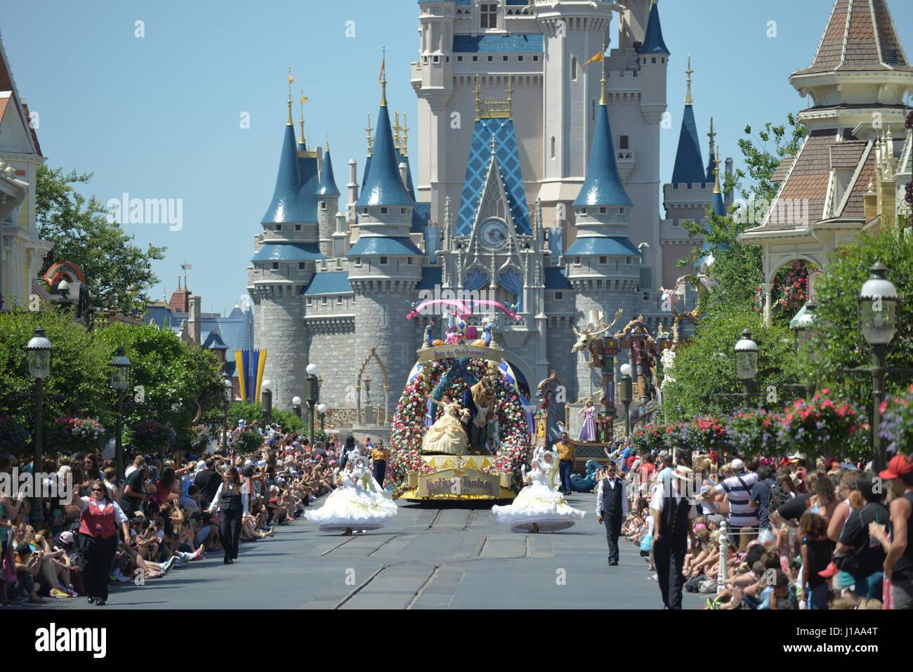 Walt Disney World Parade   Orlando Florida USA - Stock Image