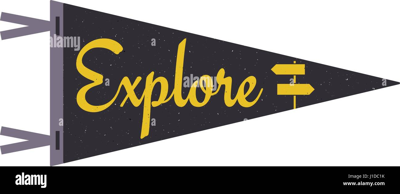 explore concept pennant travel flag design camp pennant template