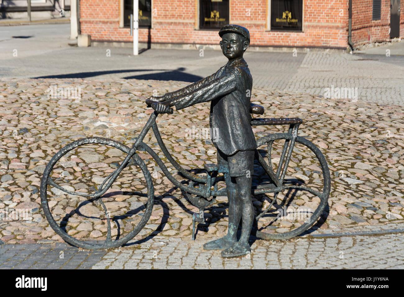 Statue of Estonian composer Arvo Pärt in Rakvere Estonia Stock Photo