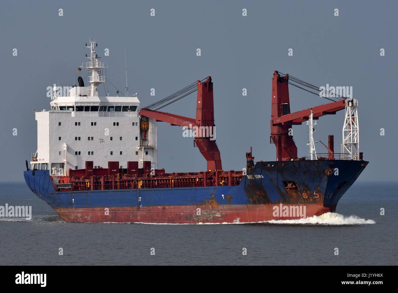 General Cargo Ship BBC Iowa Stock Photo