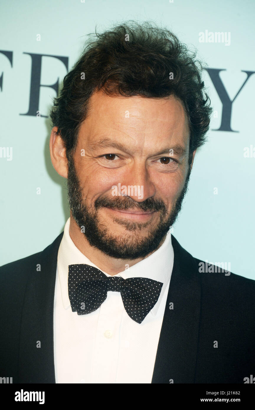 Dominic West attends Tiffany & Co Celebrates The 2017 Blue Book Collection at St. Ann's Warehouse on April - Stock Image