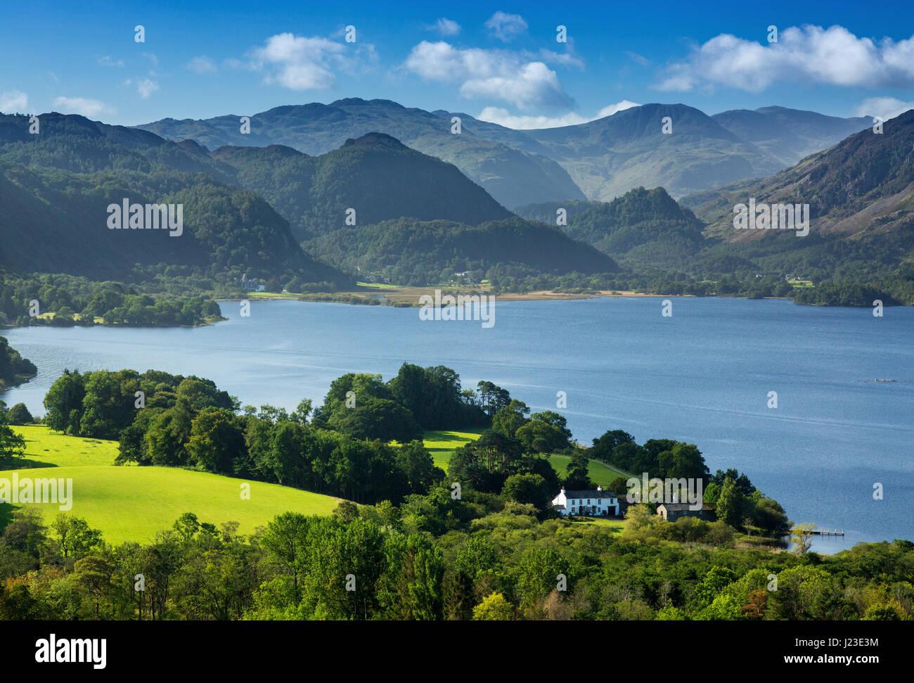 Derwentwater, Lake District, England, UK - English Lake District, Derwent Water landscape scene Stock Photo
