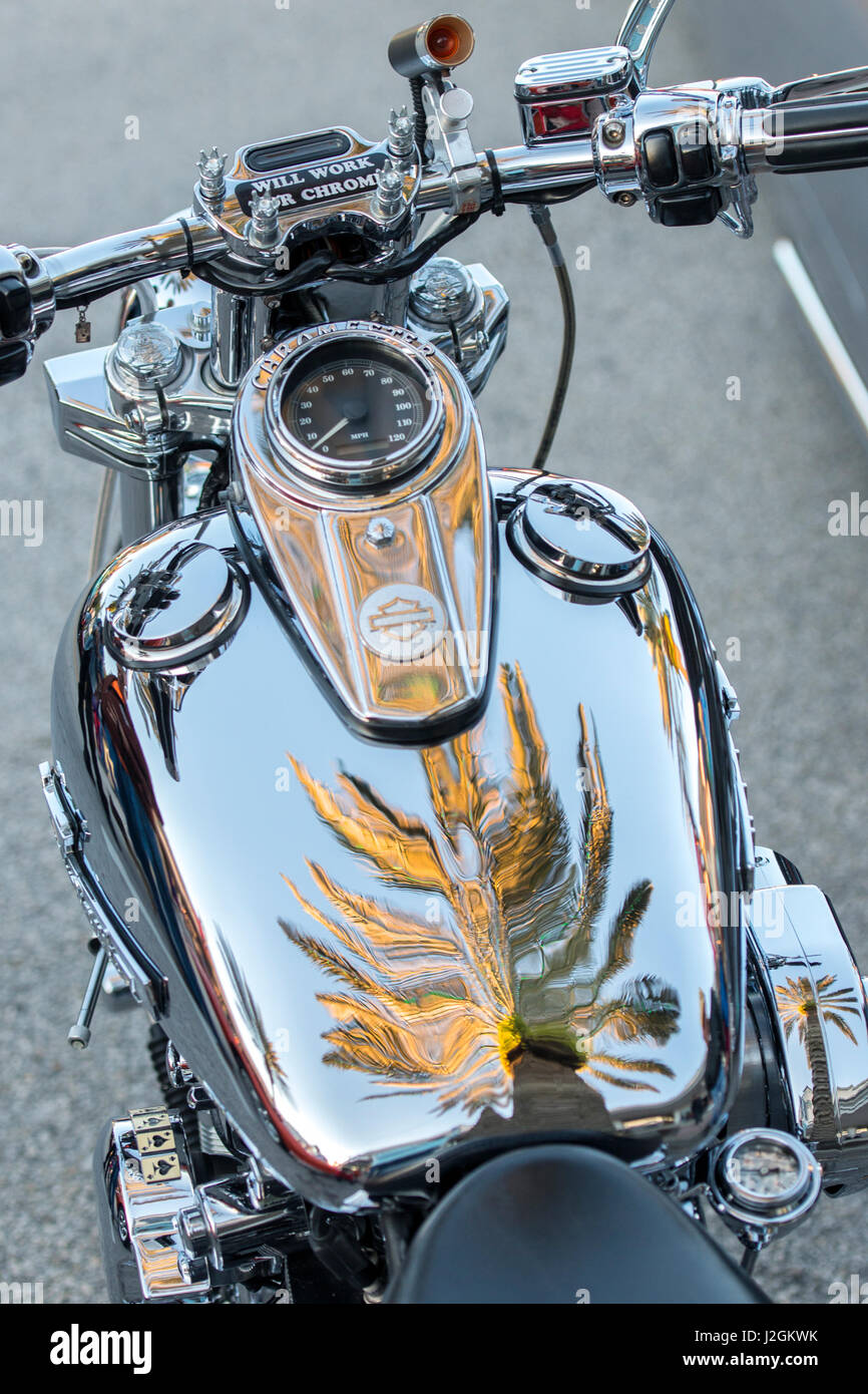 Harley Davidson Motorcycle New Smyrna Beach Florida Usa Stock