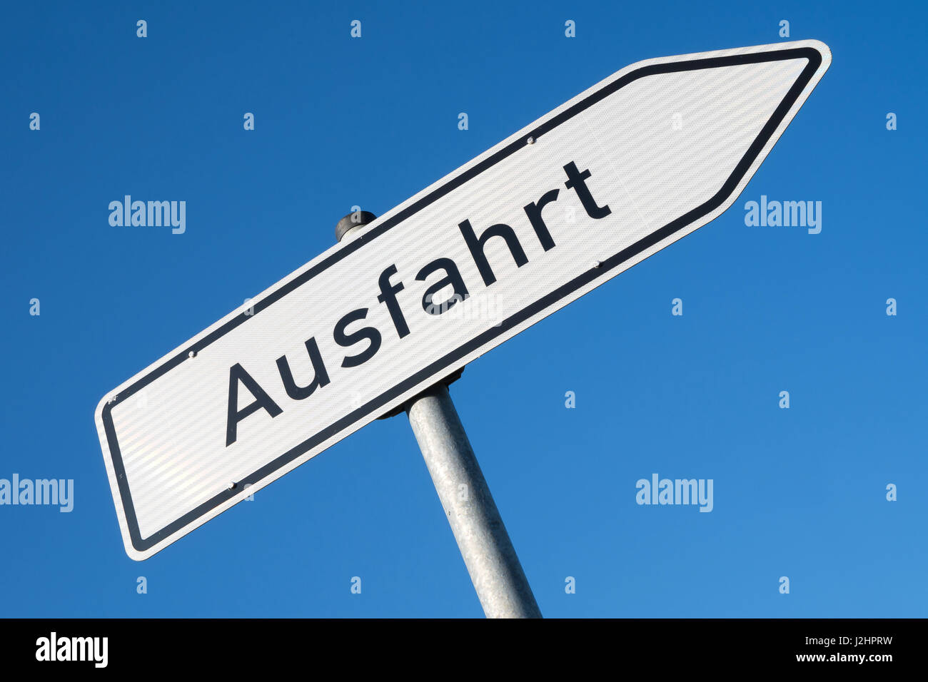 german road sign signpost at junction exit stock photo 139303357
