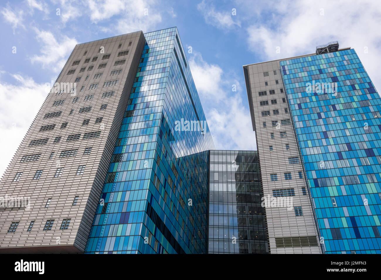 The Royal London Hospital, modern buildings, Whitechapel, London, UK - Stock Image