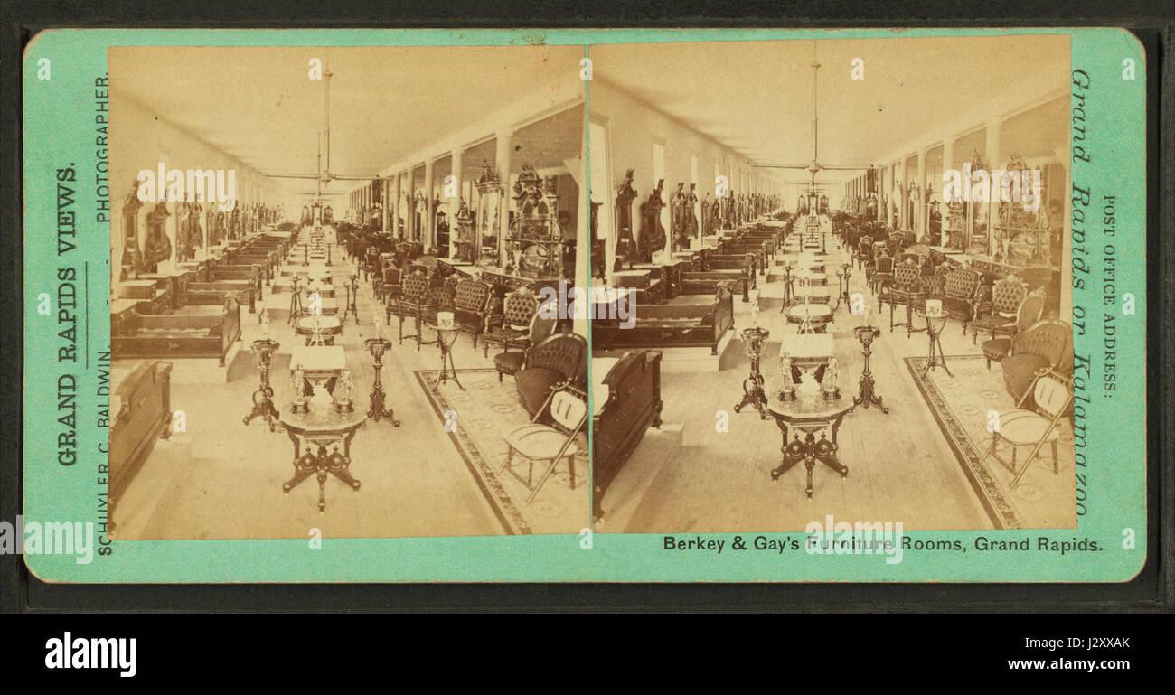 Berkey U0026 Gay Furniture Rooms, Grand Rapids, Michigan, By Baldwin, Schuyler  C. (Schuyler Colfax), 1823 1900