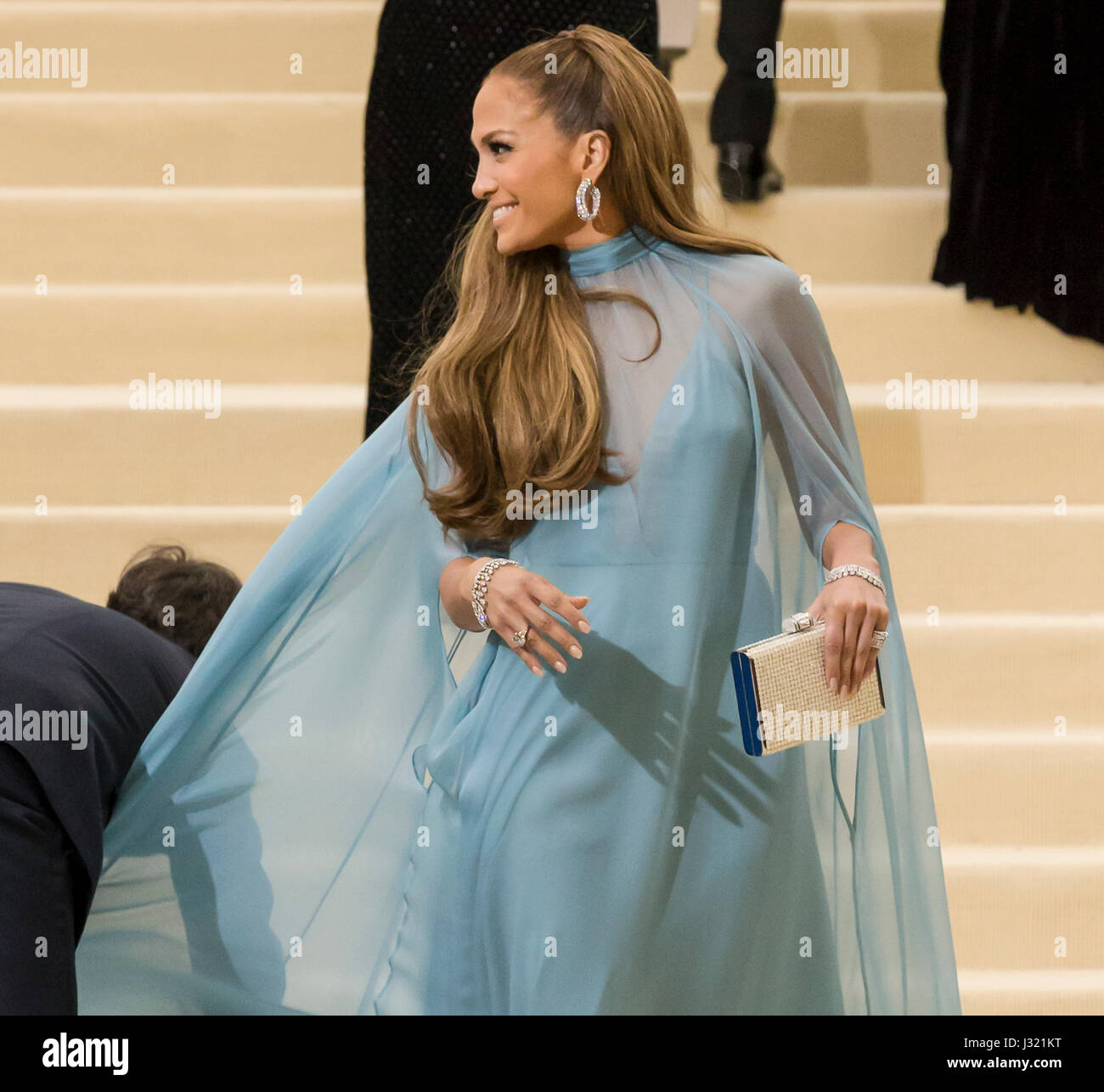 New York, USA. 1st May, 2017. Jennifer Lopez attends the 'Rei Kawakubo/Comme des Garcons: Art Of The In-Between' - Stock Image