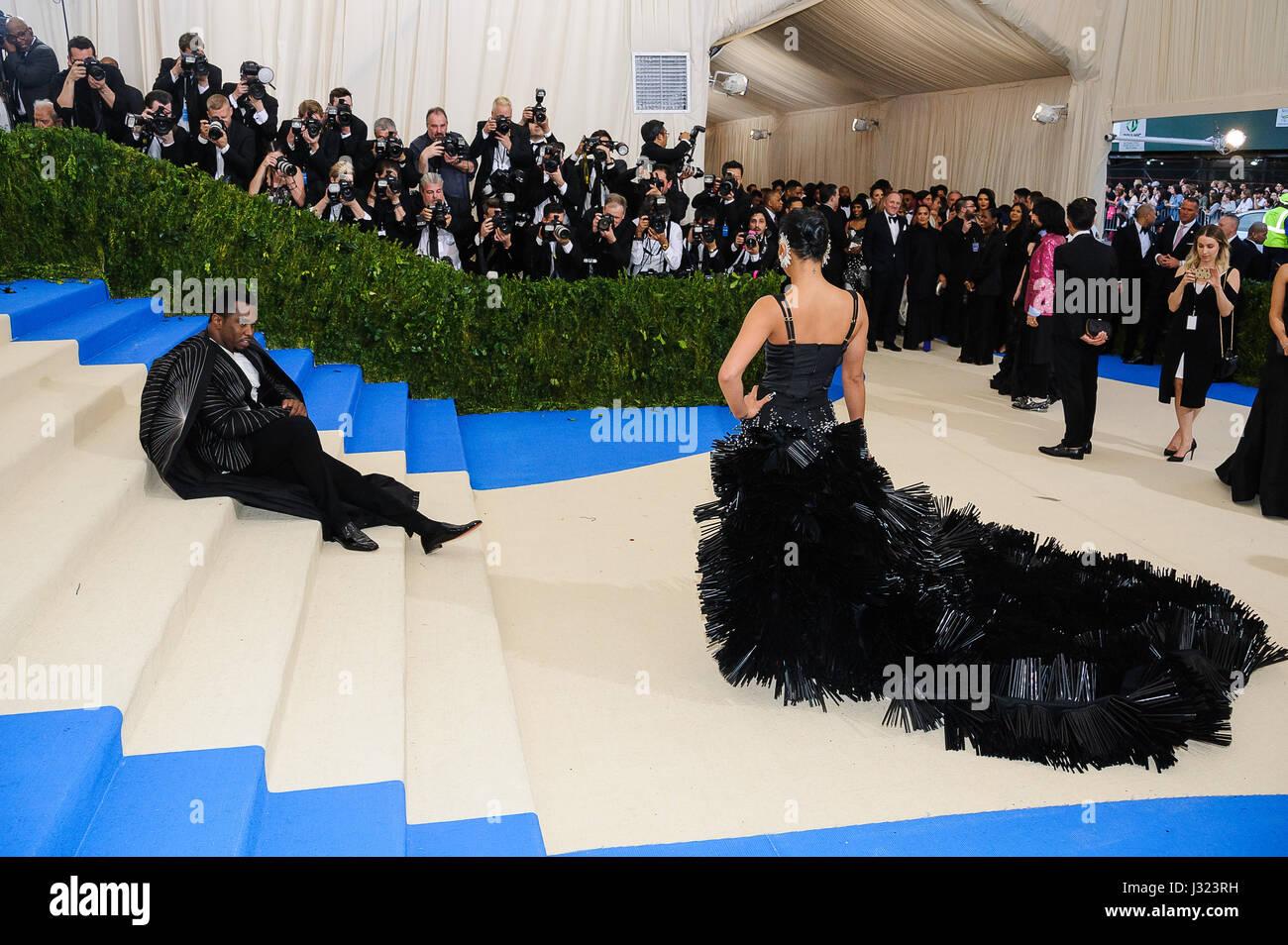 New York, NY, USA. 1st May, 2017. Sean Combs, Cassie Ventura. 2017 Metropolitan Museum of Art Costume Institute - Stock Image