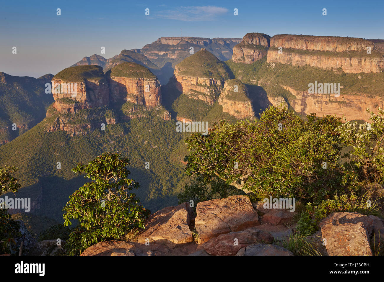 Three Rondavels in Blyde River Canyon, Drakensberge, South Africa, Africa - Stock Image