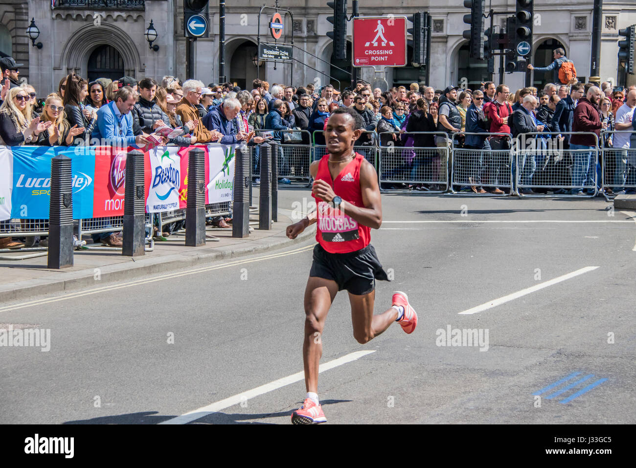 Moogas at the London Marathon 2017 - Stock Image