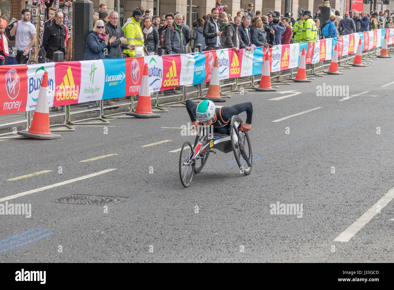 Susannah Scaroni at the London Marathon 2017 - Stock Image