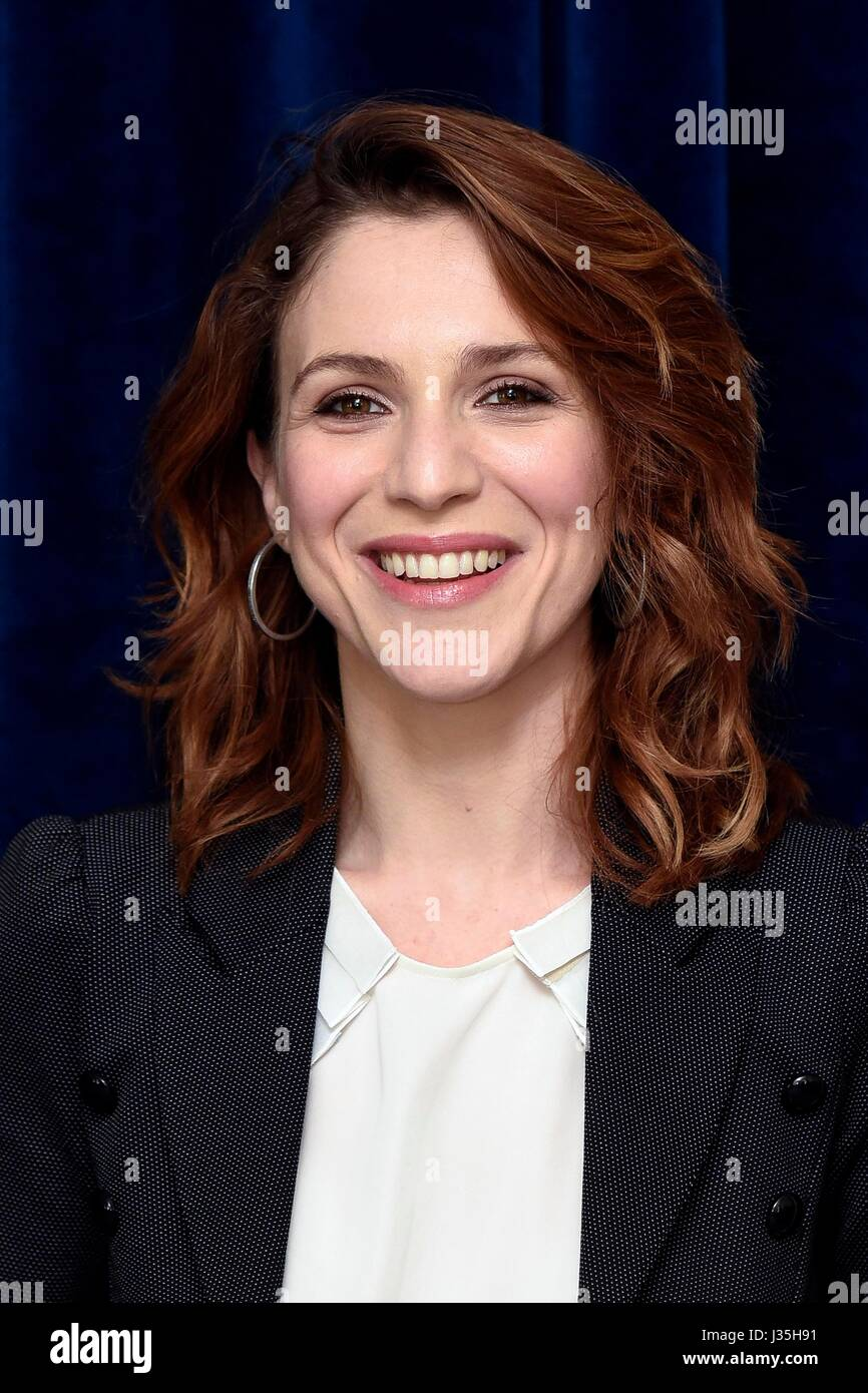 Rome, Italy. 02nd May, 2017. Photocall of movie 'Sun, Heart, Love' in the picture the actress Isabella Ragonese - Stock Image