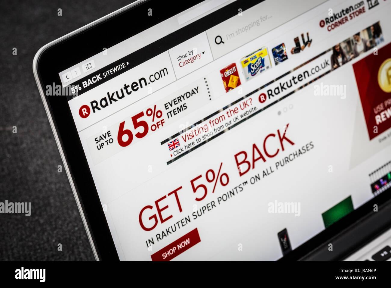 Rakuten.com Rakuten website - Stock Image