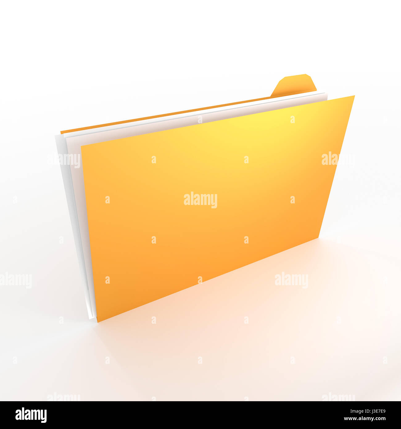 3D folder concept - great for topics like office, documents, data, research etc. - Stock Image