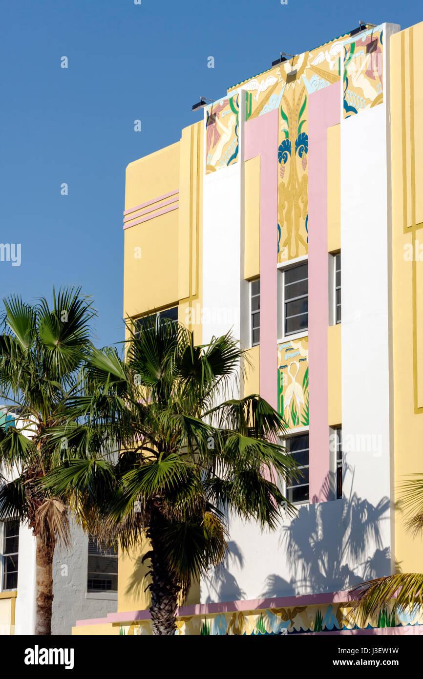 miami beach florida ocean drive ocean five hotel art deco facade