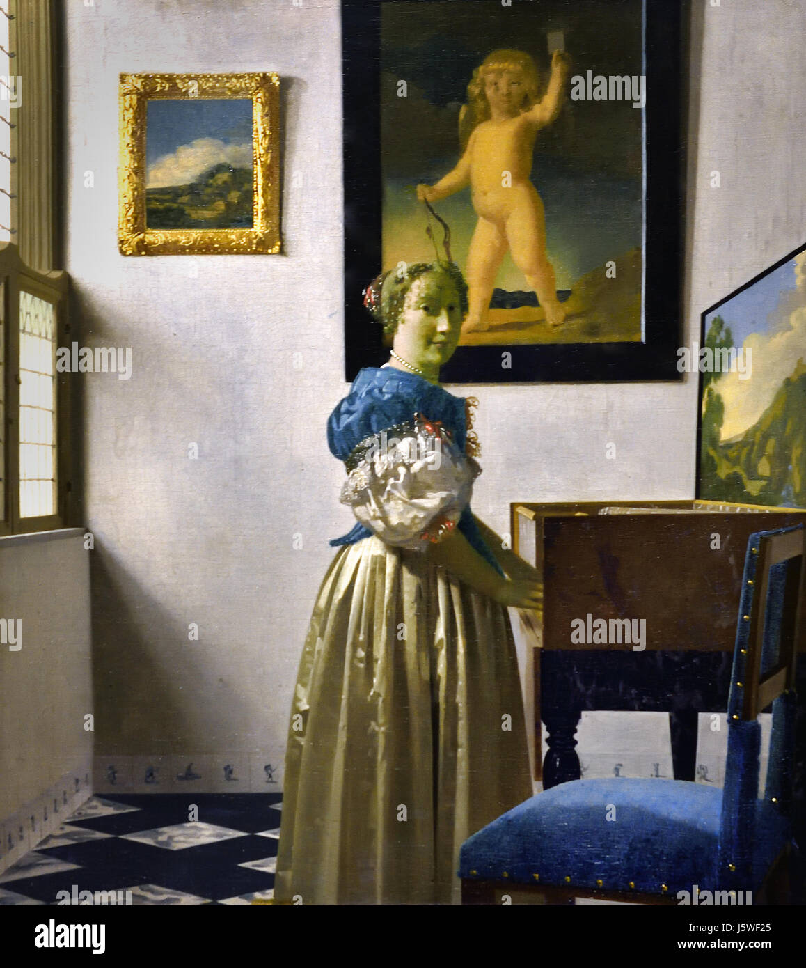 the love letter vermeer vermeer painting stock photos amp vermeer painting stock 11078 | a young woman standing at a virginal 1670 2 johannes vermeer 1632 J5WF25