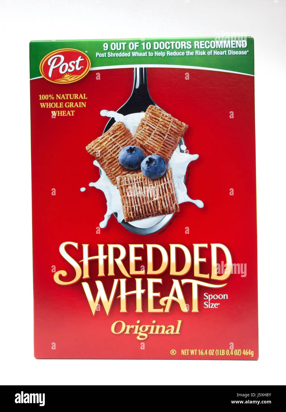 Shredded Wheat Original Cereal box. Stock Photo